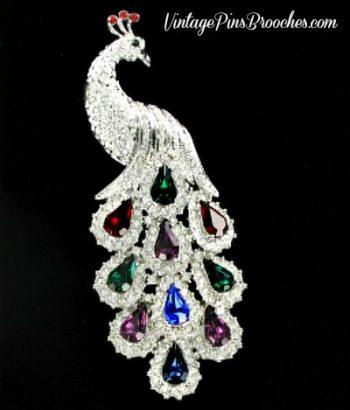 35281c728ccd0 Vintage Pave Diamond Ruby Emerald Sapphire Amethyst Rhinestone ...