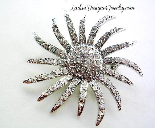 Diamond Crystal Rhinestone Flower