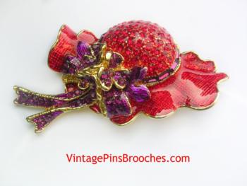 237b7ad810d11 Red Hat Society Pins – Vintage Pins Brooches